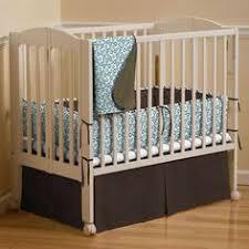 Solid Black Mini Crib Bumper