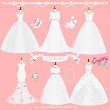 Wedding Dress clipart bridal shower 4