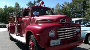 1950 Ford F7 Fire Truck Mayberry Police Car & A 1956 DeSoto Sedan ...