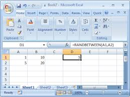 Ceiling Function Excel 2007 by Ms Excel How To Use The Randbetween Function Ws