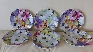 canapé limoges 6 limoges philippe deshoulieres 2 floral canape plates ebay