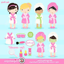 Spa Party Digital Clipart Girls Cute Clip Art For Personal