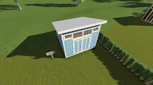 12x12 Gambrel Shed Plans by 12x12 Modern Shed Plan