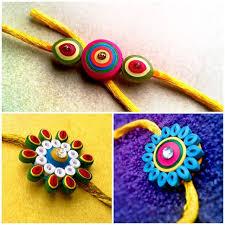 Easy Quilling Rakhi Designs