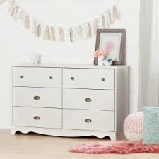 South Shore 6 Drawer Dresser White by South Shore Lily Rose 6 Drawer White Wash Dresser 10078 The Home