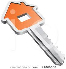 Royalty Free RF House Key Clipart Illustration 1066056 By Vector Tradition SM