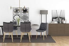woltu 2er set küchenstühle aus samt goldene kaufland de