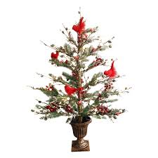 GE 3 Ft Pre Lit Twig Brown Artificial Christmas Tree With White Incandescent Lights