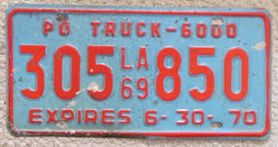 LOUISIANA 1969 TRUCK License Plate # 305 850 - $24.99 | PicClick