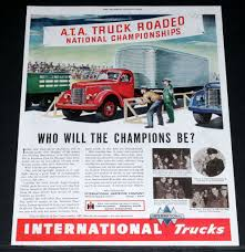 100 1938 International Truck 1946 OLD MAGAZINE PRINT AD INTERNATIONAL TRUCKS ATA
