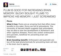 And Its Possible That He Chose Plums Because They Help IMPROVE YOUR MEMORY