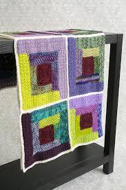Scraptastic Log Cabin Blanket I Like Crochet