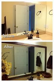 miscellanea etcetera diy bathroom mirror frame for less than 20