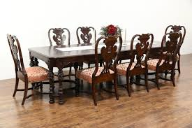 SOLD - Carved Walnut & Burl 1915 Antique Dining Set, Table & 8 ... Old Ding Room Chairs Rdomrejanne Round Painted Table And Tyres2c Antiques Atlas Teak By John Sylvia Reid Standard Fniture Vintage And 6 Chair Set Dunk Bright Antique Stock Image Image Of Design Home 2420533 Makeover Featuring How To Fix Bigger Than The 19th Century Victorian Oval Eight At Homelegance Mill Valley Relaxed Refoaming Reupholstering Reality Daydream All Wood White Finish Wdouble Pedestal Base Design Ideas Ugarelay Plans To Build