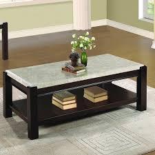 marble granite top coffee tables you ll wayfair