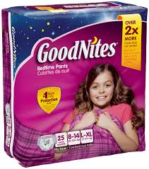 Goodnites Bed Mats by Goodnites U0027s Bedtime Pants Large Extra Large 25 Ct