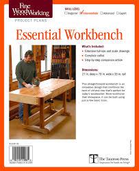 amazon com fine woodworking u0027s essential workbench plan