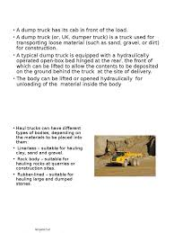 DUMP TRUCK PPT 1.pptx | Truck | Vehicle Technology