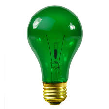Satco S6081 25 Watt Green Party Light Bulb