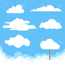 100 Flat Cloud Design Clouds Collection Vector Illustration