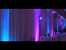 Wedding Decoration Ideas Purple Blue UpLighting Table Color Wash Effect Stage Lighting Gobo