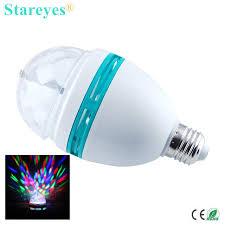 1 color 3w e27 rgb led stage light rotating dj