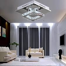 2018 Modern Led Crystal Light Square Surface Mounted Lamp