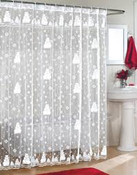 White Lace Curtains Target by Curtains Decorate Your Bathroom With Classy Lace Shower Curtains