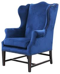 Strandmon Wing Chair Assembly by Gracie Art Deco Royal Blue Velvet Classic Wing Chair