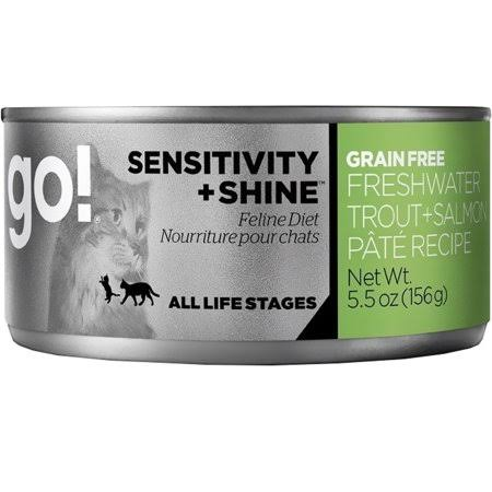 Go! Sensitivity + Shine Grain Free Cat Food - Fresh Water Trout & Salmon, 5.5oz