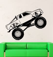 Wall Sticker Vinyl Decal Monster Truck Race Car Garage Decor-in Wall ... Monster Truck Wall Decal Personalized Name For Boys Room Decor With Decalmonster Decorwall Etsy Vinyl By Homesweetwalls On 5800 Red Blue Sticker Transport Sport Decals Stickers Car Pickup Garage Megalodon Huge Officially Licensed Jam Removable Wallpops Multicolor Outrageous Trucks Decalwpk2576 The Home Lightning Mcqueen Grave Digger Pack Decalcomania Cars And Warrior Giant Dragon Launch Os_mb592