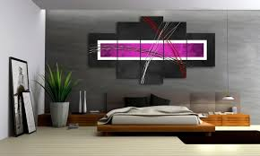 violet style 5 bilder leinwand abstrakt lila grau m50477