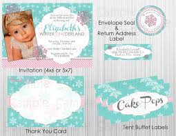 Winter Wonderland 1st Birthday Invitations Is One Of The Best Idea For You To Make Your Own Invitation Design 2