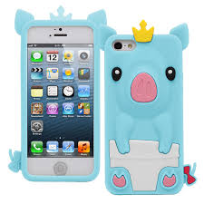 New Cute Princess Pig Case Cover Protector Soft Silicone for Apple