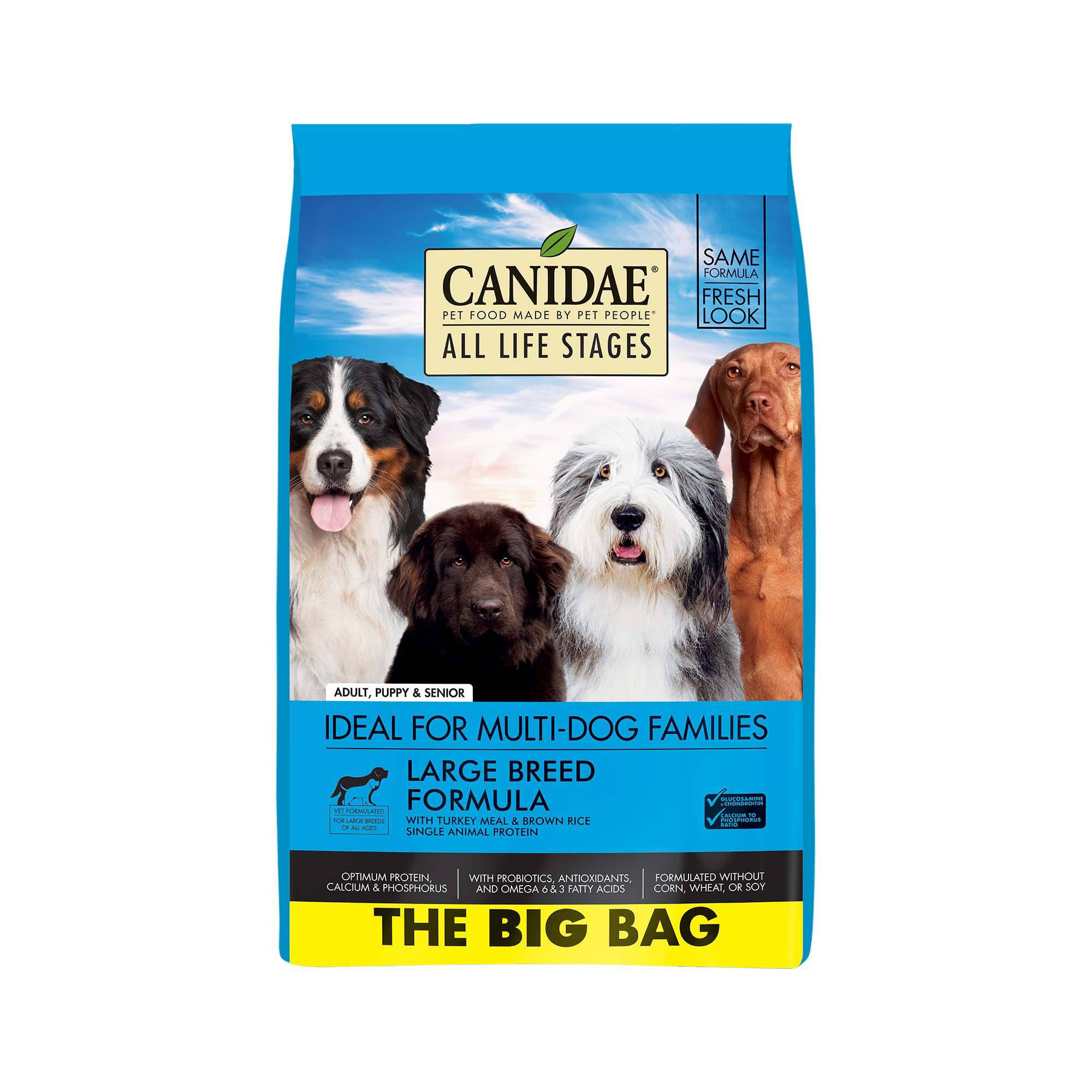 Canidae All Life Stages Large Breed Dog Dry Food Turkey Meal & Brown Rice Formula 44lbs