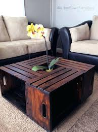 Diy Living Room Decor Ideas Crate Coffee Table Cool Modern Rustic And Pinterest Odclass