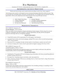 Advertising Resumes Best Of Sample Resume For An Account Executive
