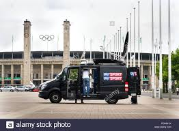 BERLIN, GERMANY - MAY 15 2018: Sky Sports Television Production ...