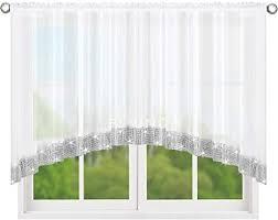 fkl top fertig gardine aus voile neu top design set schöne wohnzimmer küche gardine mit kräuselband und zirkonia 120 x 400 cm lb 249