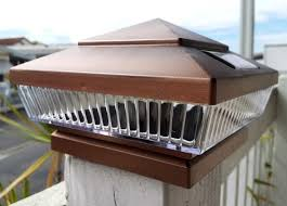 6x6 deck post caps solar copper solar deck post lights 6x6 with 5 led low profile set of 2