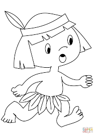 Click The Indian Boy Coloring Pages To View Printable