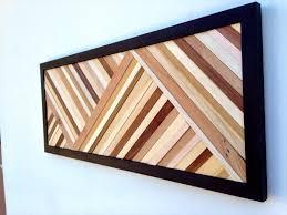 Wood Wall Art Sculpture Reclaimed Modern