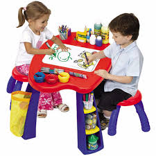 Crayola Wooden Table And Chair Set by Crayola Kids Creativity Arts Drawing Play Center Desk Chalkboard