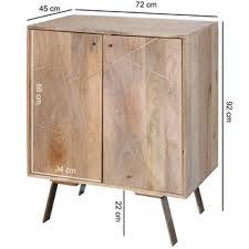 wohnling sideboard wl5 605 mango massivholz 72x92x45 cm