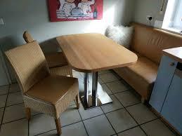 küchen essplatz küchentisch mit sitzbank und 2 rattan stühle