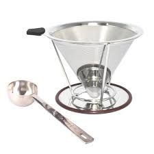 Pour Over Coffee Filter Nicelucky Stainless Steel Dripper For Reusable Permanent Paperless Single Cup