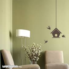 bird house with swallows wall decal sticker