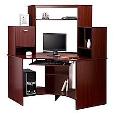 realspace magellan collection corner workstation classic cherry by