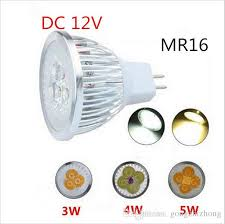 best high power spotlight bulb mr16 12v dimmable 3w 4w 5w led