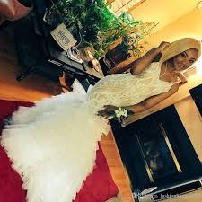 ivory lace mermaid prom dresses long spaghetti strap appliques
